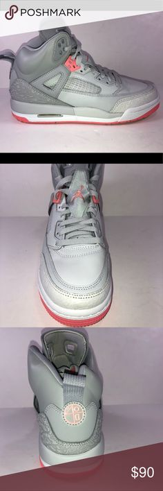 Air Jordan Spizike GG Grey & Pink Basketball Shoes New Without Box Never Been Worn Jordan Shoes Sneakers