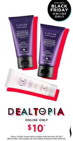 I've wanted to try this product!  Black Friday Preview: Alterna Caviar Moisture Trio #Dealtopia #Sephora #blackfriday