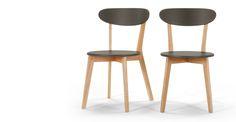 2 x Fjord, chaises, chêne et gris