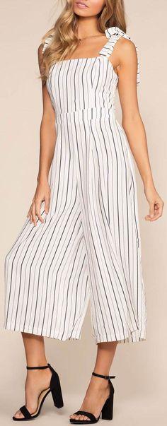 Silva Striped Culottes