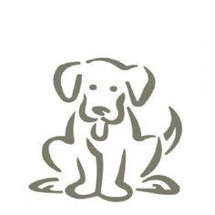 Stencil cão