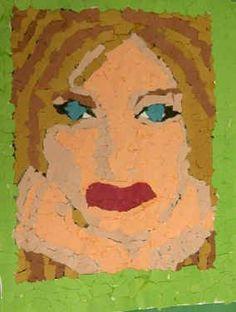 Art Lesson Plan: Torn Paper Collage Portrait
