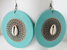 Turquoise Earrings Afrocentric Jewelry by AdornmentsbyDebbie, $26.00 Aqua earrings--jeans & white T or cute summer dress