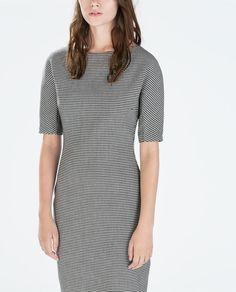 perfect work dress! PRINTED BOAT NECK DRESS from Zara