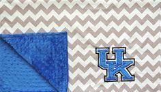 University of Kentucky Minky Baby Blanket by jamnjelli on Etsy, $38.00