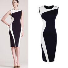 Women Geometry Design Sleeveless O-Neck Stretchy Evening Slim Dress Women's Dresses, Fashion Dresses, Fashion Clothes, New Dress, Dress Up, Robes D'occasion, Mode Glamour, Dress Link, Fashion Sewing