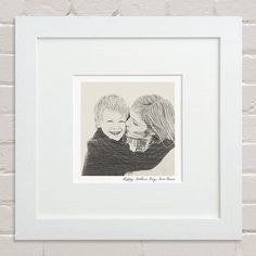 Bespoke Mother And Child Portrait from notonthehighstreet.com