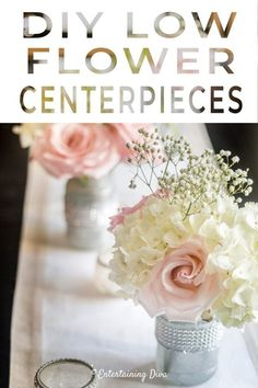 Fake Flower Centerpieces, Wedding Shower Centerpieces, Rose Gold Centerpiece, Fake Flower Arrangements, Bridal Shower Tables, Mason Jar Flowers, Diy Centerpieces, Bridal Showers, Baby Showers