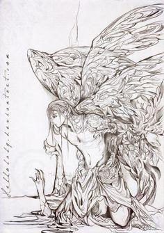 Lasael - Fallen Angel by Hellobaby.deviantart.com on @DeviantArt