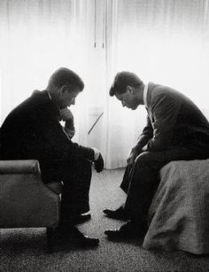 Brothers:  Jack and Bobby Kennedy