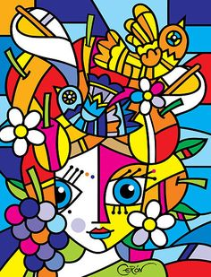 This painting is done on gallery wrapped canvas. Fine Art Glicce It is protected with Semi Gloss Varnish and signed and titled at the back. This is a Contemporary Pop Art piece that is perfect for any modern urban, contemporary decor. Family Painting, Painting Of Girl, Arte Pop, Miami Street Art, Art Miami, Hippy Art, Wal Art, Hippie Painting, Abstract Portrait