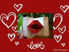 Origami ⊰♥⊱ Kissing Lips ⊰♥⊱ - YouTube