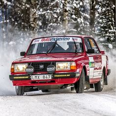 P-O Davidsson in 240 at Rally Sweden Historic 2013. Photo by Jens Karlsson