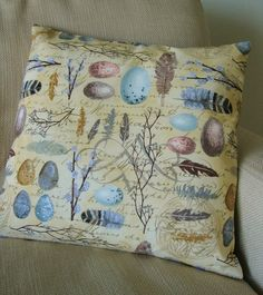 Birds of a Feather    a pillow cover by catchallcorner on Etsy