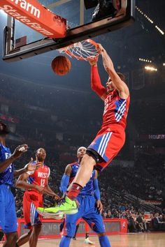 promo code 40a81 cd275 Blake Griffin of the Western Conference All-Stars dunks during the 2013 NBA  All-Star Game in Houston