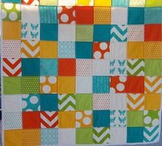 Half Moon Modern Patchwork Baby Quilt (Gender Neutral) by Dreamy Vintage Sheets on Etsy. $95.00, via Etsy.