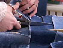 Jeanspuff/sittdyna | Strömsö, sy ihop olika nyanser av jeans (testa också till kläder)