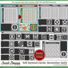 Cindy's Layered Cards: 4x6 December Daily by Cindy Schneider