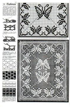 filet häkeln Schmetterling... filet crochet pattern
