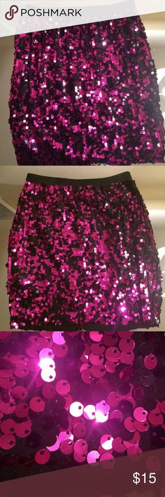 Sequin mini skirt This skirt is covered in black and purple sequins and is super sparkly! It is lined and measures 15 inches long. Is in excellent condition. Bought from Nasty Gal. Nasty Gal Skirts Mini