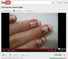 Check Out Tons of FreeNail Art Tutorials: Converse Sneakers and Other Fun Stuff on Your Nails