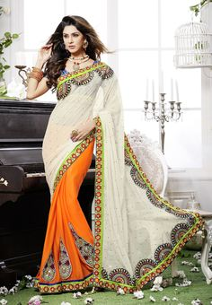 A perfect Saree for #Casual Function With Heavy touch up