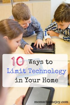 Is your family experiencing technology overload? You may need to implement some LIMITS on technology in your home. These 10 practical tips have made a huge impact on creating a HEALTHY BALANCE of SCREEN TIME for my kids and me!