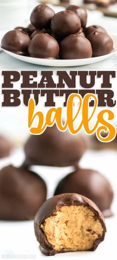 Our Favorite Recipes PEANUT BUTTER BALLS! This recipe is a HUGE hit with our whole family! Make sure to double the recipe and stash some in the freezer for later! Winter Desserts, Köstliche Desserts, Delicious Desserts, Dessert Recipes, Dinner Recipes, Christmas Desserts, Christmas Cookies, Hot Fudge Cake, Hot Chocolate Fudge
