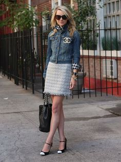 Like the jean jacket with the dress