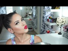 Cat eye liner & Labios rojos | Giveaway - YouTube