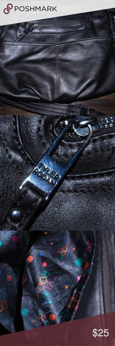 Tyler Rodan Leather Shoulder Bag used Tyler Rodan leather shoulder bag , it has a few noticeable scuffs on it but nothing to major , it is a dark gray color, 12x10 inches. Tyler Rodan Bags Shoulder Bags
