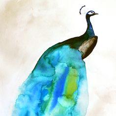 Mai Autumn - Peacock II - Inspired Illustrations - Art Prints, Original Art, Handmade Stationery