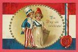 Vintage 4th of July postcard.