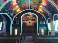 Cannabis Church Arrived in Denver  The Elevation Ministries organisation non-religieuse au Colorado will open the Church of Cannabis on April the 20th. This place will allow to smoke cannabis without selling it and will organise some projection of documentaries and movies. The inside of the church has been decorated by Kenny Scharf.       #xemtvhay