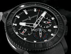 TimeZone: Industry News: N E W M o d e l – Ulysse Nardin Black Sea Chronograph