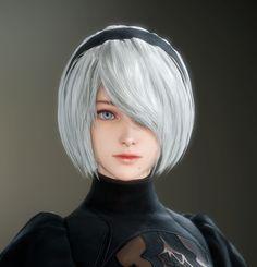 Digital Art Girl, Digital Portrait, Female Character Concept, Character Art, Nier Automata 2, Female Cyborg, Age Of Empires, Warrior Girl, Cosplay