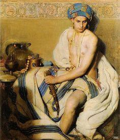 Gabriel Raya Morcillo, Young man with turban, 1912