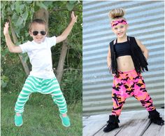 Create Kids Couture - Parker's Parachute Pants For Girls and Boys PDF sewing pattern.  These super fun dancewear parachute pants are so unique and sure to be loved by your little prince OR Princess! Use Spandex or knit fabrics! Pair with one of the fun dance wear top patterns in our shop for a fun mix and match look! Size 2t-8.