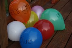 balloon activities and songs