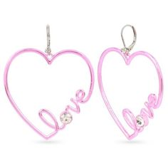 Betsey Johnson  Pink-Tone Heart Earrings (2,445 INR) ❤ liked on Polyvore featuring jewelry, earrings, pink, metallic jewelry, betsey johnson jewellery, statement earrings, heart earrings and polish jewelry