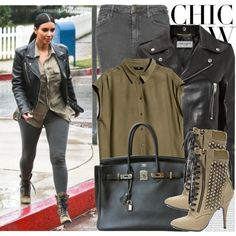A fashion look from January 2015 featuring H&M blouses, Yves Saint Laurent jackets and Topshop jeans. Browse and shop related looks.