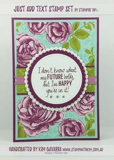 Petal Garden Cards – Stampin' Up! Australia Just Add Text Stamp Set Stamp With Kim Australia