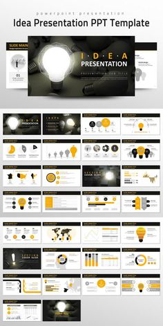 #presentation #template from Good Pello | DOWNLOAD: https://creativemarket.com/alecwang1103/727084-Idea-Presentation-PPT-Template?u=zsoltczigler
