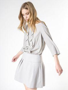 beautiful grey dress #fw16 #fashion #patriziapepe #dress