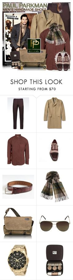 """""""Luxurious shoes and belts would make perfect Christmas gifts - PAUL PARKMAN"""" by vn1ta ❤ liked on Polyvore featuring Emporio Armani, Theory, Common People, Colombo, Tumi, Vince Camuto, Armitron, J.Crew and Roja Parfums"""