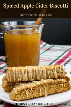 Spiced Apple Cider Biscotti - The perfect fall biscotti recipe for your cookie jar! Boiled apple cider gives this biscotti an intense apple flavor. Apple Cider Cookies, Spiced Apple Cider, Spiced Apples, Recipe Using Apple Cider, Recipe Using Apples, Italian Cookie Recipes, Sicilian Recipes, Sicilian Food, Fall Dessert Recipes