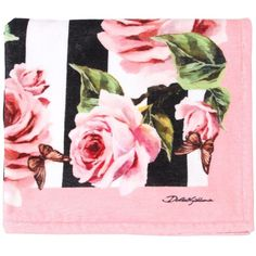 Dolce & Gabbana Kids-girls Roses Cotton Terrycloth Beach Towel ($245) ❤ liked on Polyvore featuring multicolor