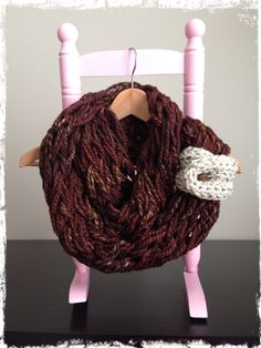 Chunky knit infinity scarf with cuff. - pinned by pin4etsy.com