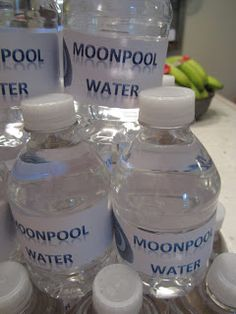 Lola, Tangled: Warrior Cat Birthday Party-- Moonpool bottled waters