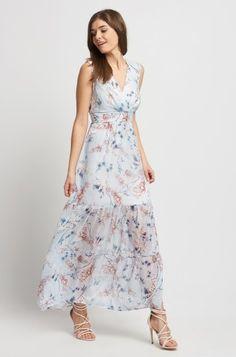 Maxi šaty s bohatým vzorem